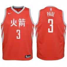 Youth 2017-18 Season Chris Paul Houston Rockets #3 Statement Red Swingman Jersey