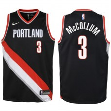 Youth 2017-18 Season CJ McCollum Portland Trail Blazers #3 Icon Black Swingman Jersey