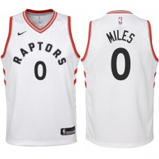Youth 2017-18 Season CJ Miles Toronto Raptors #0 Association White Swingman Jersey