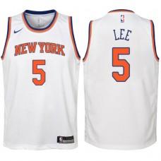 Youth 2017-18 Season Courtney Lee New York Knicks #5 Association White Swingman Jersey