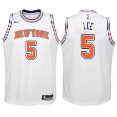 Youth 2017-18 Season Courtney Lee New York Knicks #5 Statement White Swingman Jersey