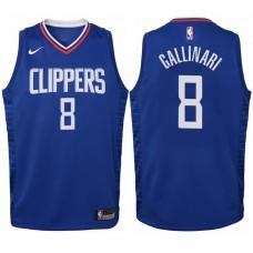 Youth 2017-18 Season Danilo Gallinari Los Angeles Clippers #8 Icon Blue Swingman Jersey