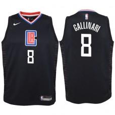 Youth 2017-18 Season Danilo Gallinari Los Angeles Clippers #8 Statement Black Swingman Jersey