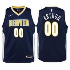 Youth 2017-18 Season Darrell Arthur Denver Nuggets #00 Icon Navy Swingman Jersey
