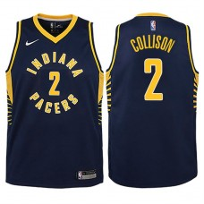 Youth 2017-18 Season Darren Collison Indiana Pacers #2 Icon Navy Swingman Jersey