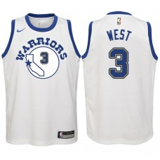Youth 2017-18 Season David West Golden State Warriors #3 Classic Edition White Swingman Jersey