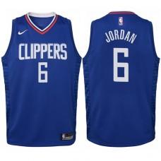 Youth 2017-18 Season DeAndre Jordan Los Angeles Clippers #6 Icon Blue Swingman Jersey