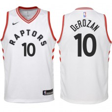 Youth 2017-18 Season DeMar DeRozan Toronto Raptors #10 Association White Swingman Jersey