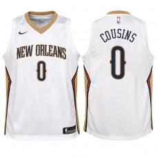Youth 2017-18 Season DeMarcus Cousins New Orleans Pelicans #0 Association White Swingman Jersey