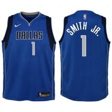 Youth 2017-18 Season Dennis Smith Jr. Dallas Mavericks #1 Icon Blue Swingman Jersey