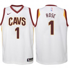 Youth 2017-18 Season Derrick Rose Cleveland Cavaliers #1 Association White Swingman Jersey