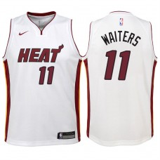 Youth 2017-18 Season Dion Waiters Miami Heat #11 Association White Swingman Jersey