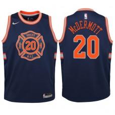 Youth 2017-18 Season Doug McDermott New York Knicks #20 City Edition Navy Swingman Jersey