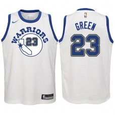 Youth 2017-18 Season Draymond Green Golden State Warriors #23 Classic Edition White Swingman Jersey