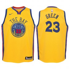 Youth 2017-18 Season Draymond Green Golden State Warriors #23 City Edition Gold Swingman Jersey