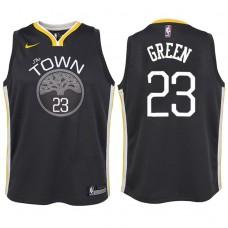 Youth 2017-18 Season Draymond Green Golden State Warriors #23 Statement Gray Swingman Jersey