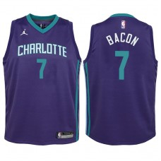 Youth 2017-18 Season Dwayne Bacon Charlotte Hornets #7 Statement Purple Swingman Jersey
