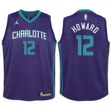 Youth 2017-18 Season Dwight Howard Charlotte Hornets #12 Statement Purple Swingman Jersey