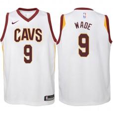 Youth 2017-18 Season Dwyane Wade Cleveland Cavaliers #9 Association White Swingman Jersey