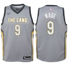 Youth 2017-18 Season Dwyane Wade Cleveland Cavaliers #9 City Edition Gray Swingman Jersey
