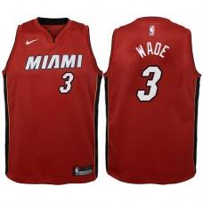 Youth 2017-18 Season Dwyane Wade Miami Heat #3 Icon Red Swingman Jersey