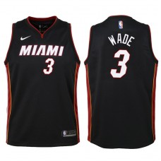Youth 2017-18 Season Dwyane Wade Miami Heat #3 Statement Black Swingman Jersey