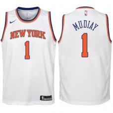 Youth 2017-18 Season Emmanuel Mudiay New York Knicks #1 Association White Swingman Jersey