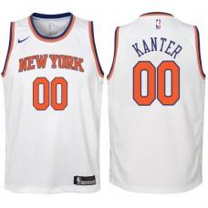 Youth 2017-18 Season Enes Kanter New York Knicks #00 Association White Swingman Jersey