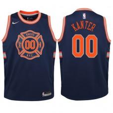 Youth 2017-18 Season Enes Kanter New York Knicks #00 City Edition Navy Swingman Jersey