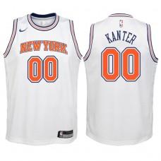 Youth 2017-18 Season Enes Kanter New York Knicks #00 Statement White Swingman Jersey