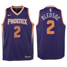 Youth 2017-18 Season Eric Bledsoe Phoenix Suns #2 Icon Purple Swingman Jersey