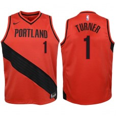 Youth 2017-18 Season Evan Turner Portland Trail Blazers #1 Statement Red Swingman Jersey