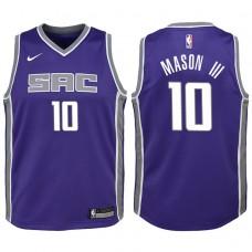 Youth 2017-18 Season Frank Mason III Sacramento Kings #10 Icon Purple Swingman Jersey