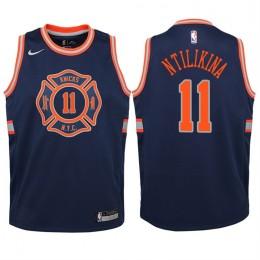 New York Knicks #11 Frank Ntilikina Icon Blue Swingman Jersey