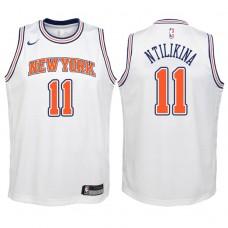 Youth 2017-18 Season Frank Ntilikina New York Knicks #11 Statement White Swingman Jersey