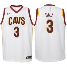 Youth 2017-18 Season George Hill Cleveland Cavaliers #3 Association White Swingman Jersey