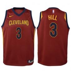 Youth 2017-18 Season George Hill Cleveland Cavaliers #3 Icon Wine Swingman Jersey