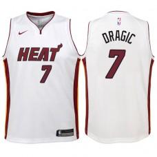 Youth 2017-18 Season Goran Dragic Miami Heat #7 Association White Swingman Jersey