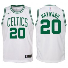 Youth 2017-18 Season Gordon Hayward Boston Celtics #20 Association White Swingman Jersey