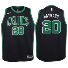 Youth 2017-18 Season Gordon Hayward Boston Celtics #20 Statement Black Swingman Jersey