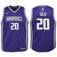 Youth 2017-18 Season Harry Giles Sacramento Kings #20 Icon Purple Swingman Jersey