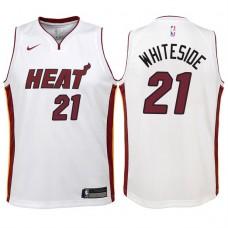 Youth 2017-18 Season Hassan Whiteside Miami Heat #21 Association White Swingman Jersey