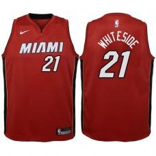 Youth 2017-18 Season Hassan Whiteside Miami Heat #21 Statement Red Swingman Jersey