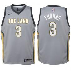 Youth 2017-18 Season Isaiah Thomas Cleveland Cavaliers #3 City Edition Gray Swingman Jersey