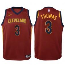 Youth 2017-18 Season Isaiah Thomas Cleveland Cavaliers #3 Icon Maroon Swingman Jersey