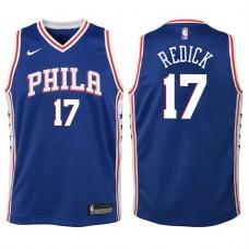 Youth 2017-18 Season J.J. Redick Philadelphia 76ers #17 Icon Blue Swingman Jersey