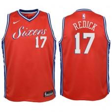 Youth 2017-18 Season J.J. Redick Philadelphia 76ers #17 Statement Red Swingman Jersey