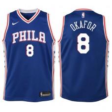 Youth 2017-18 Season Jahlil Okafor Philadelphia 76ers #8 Icon Blue Swingman Jersey