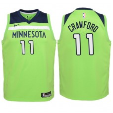 Youth 2017-18 Season Jamal Crawford Minnesota Timberwolves #11 Statement Green Swingman Jersey
