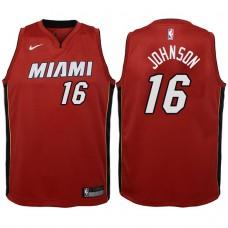 Youth 2017-18 Season James Johnson Miami Heat #16 Statement Red Swingman Jersey